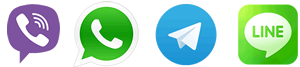 Viber, WhatsApp, Telegram, Line