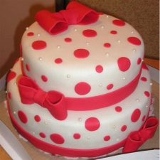 red-dotted-cake